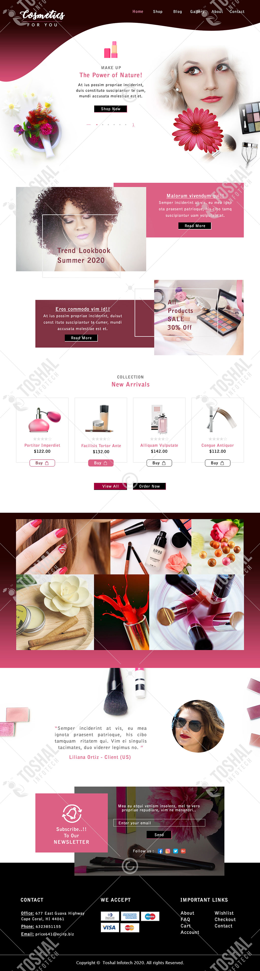 Beauty Cosmetics Shop Theme