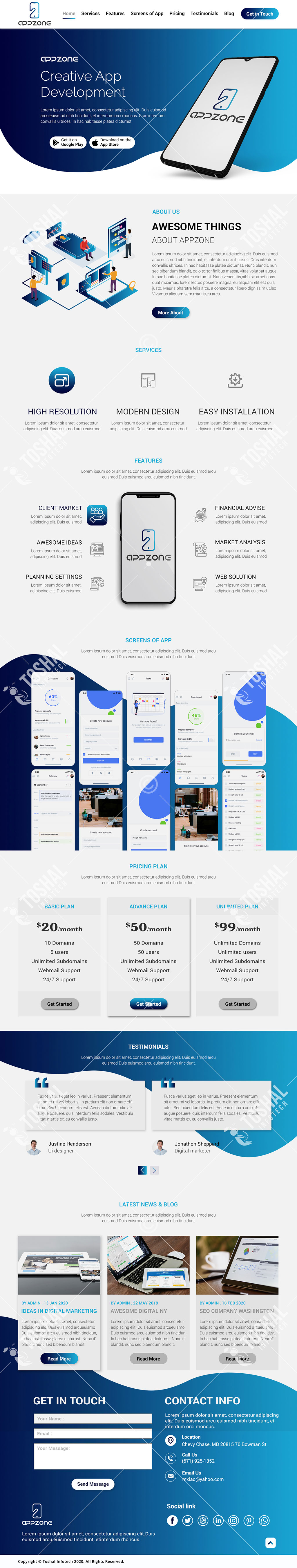 Creative App Development Theme Design