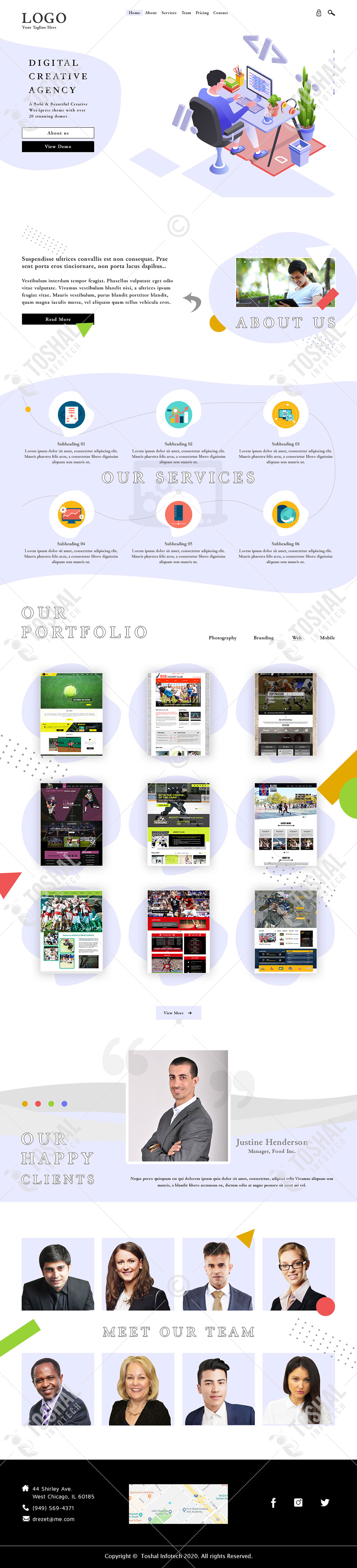 Digital Creative Agency Theme