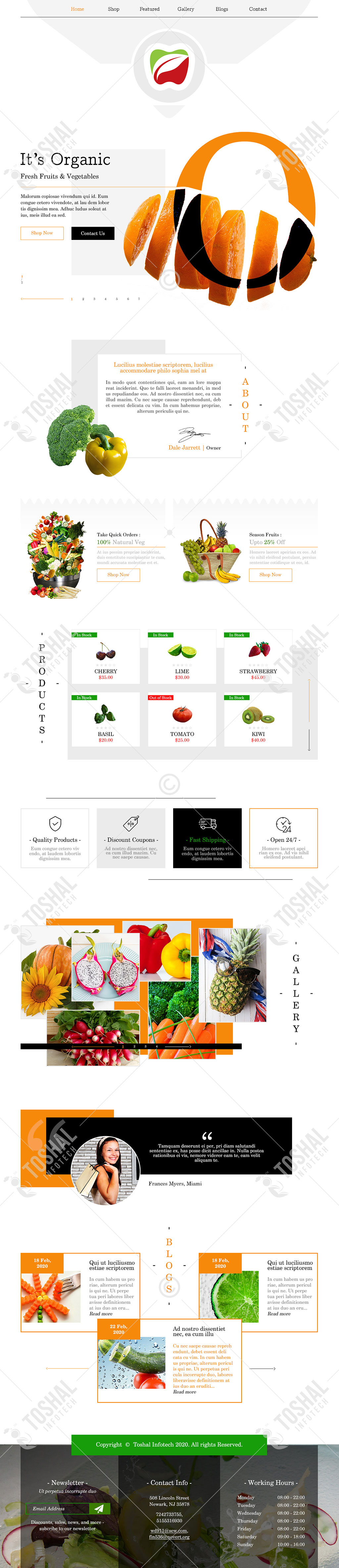 Fruits & Vegetables Theme