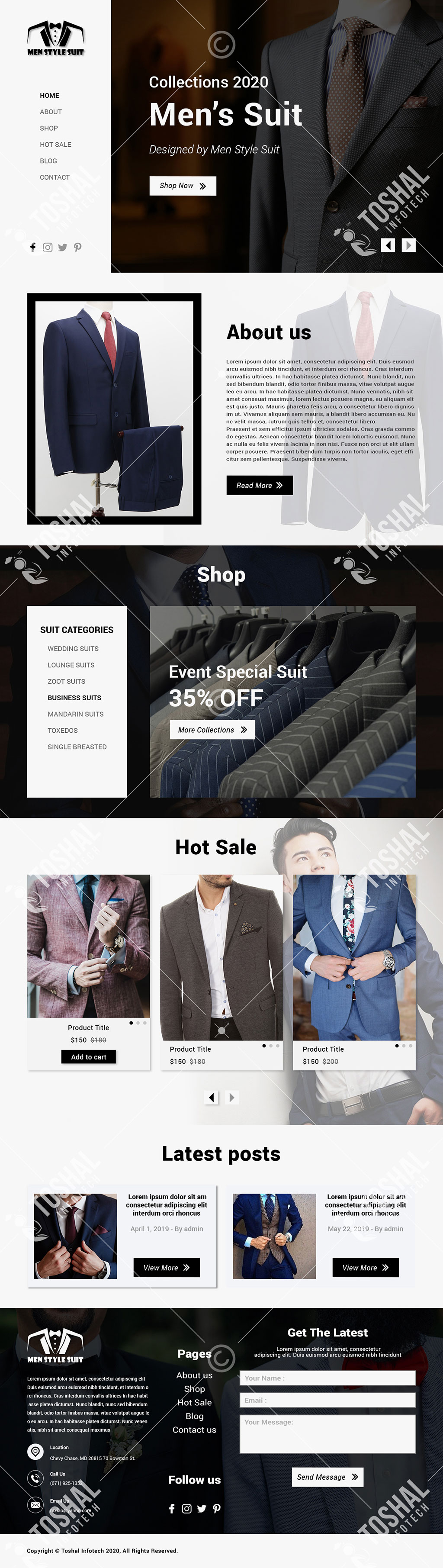 Men Style Suit Theme
