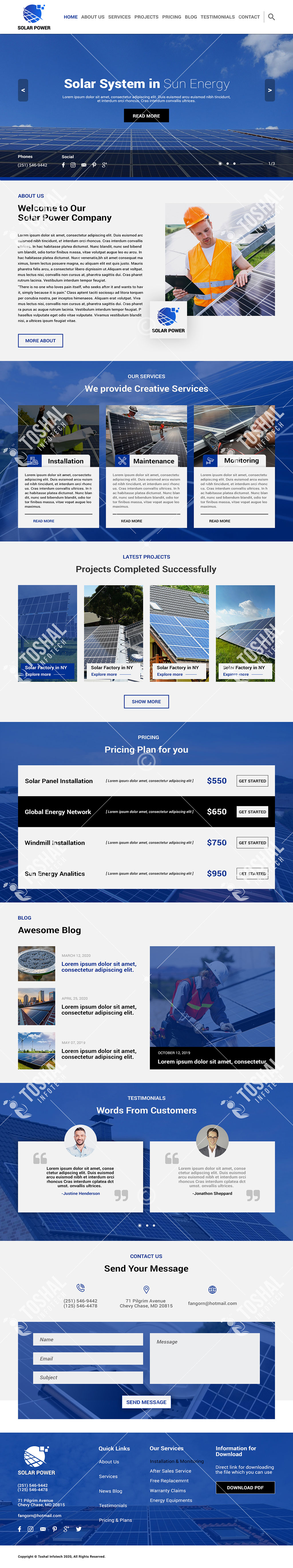 Solar Power Theme