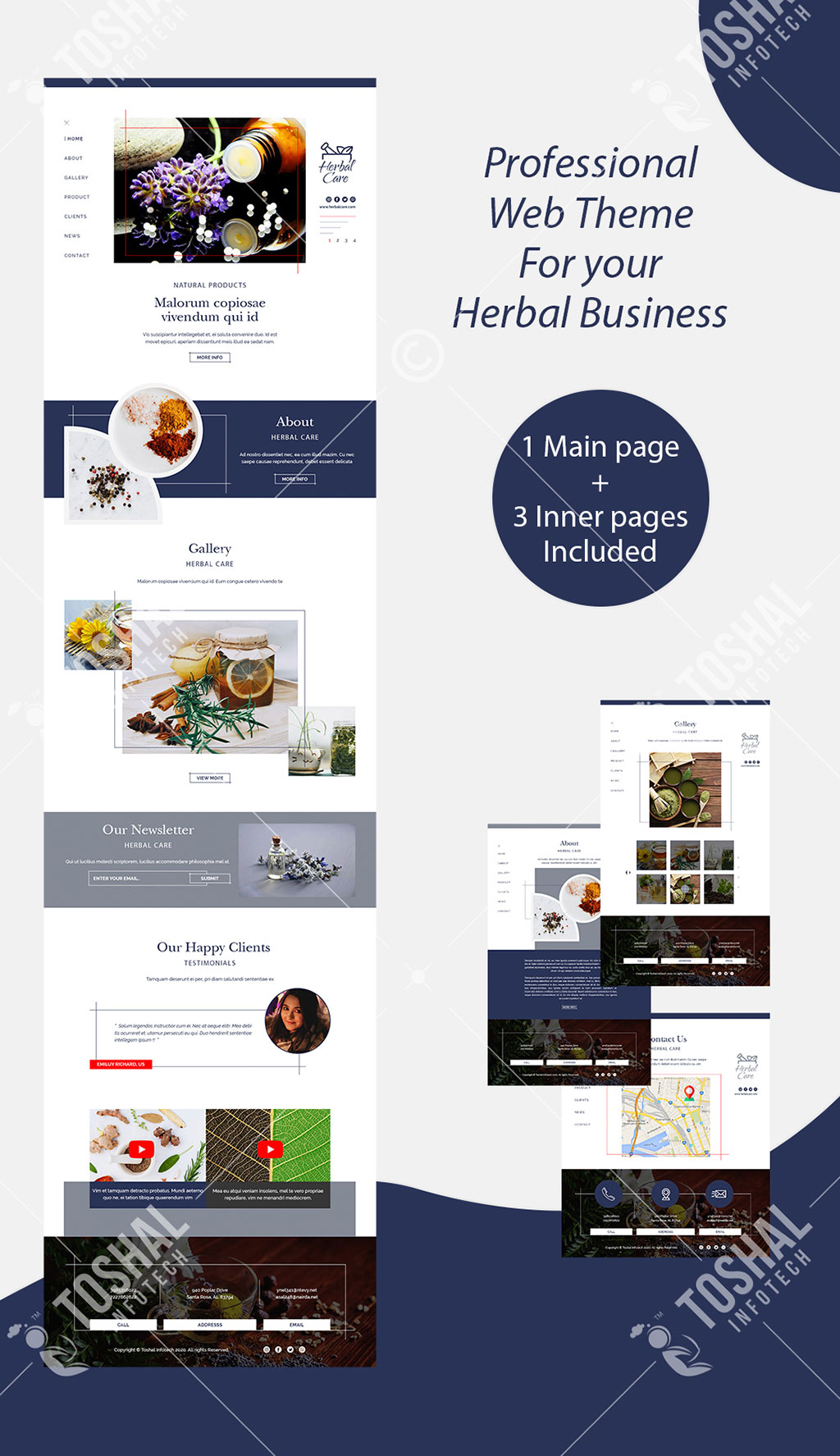 Herbal Products Theme with Inner Pages