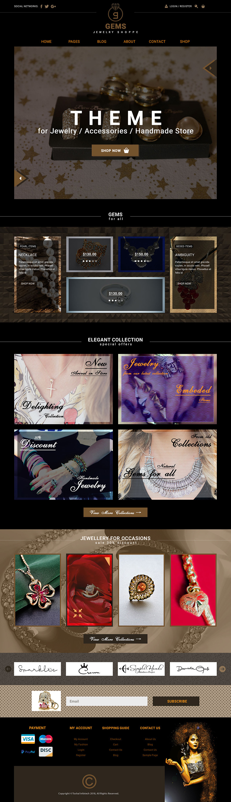 Gems Jewelry Shoppe Theme Old