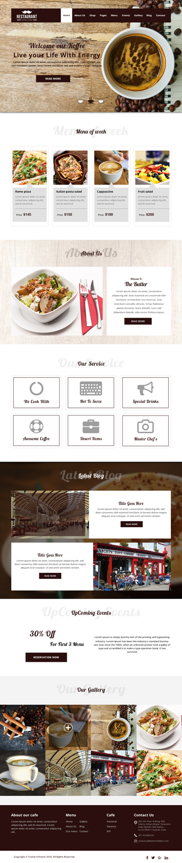 Coffee Restaurant Theme